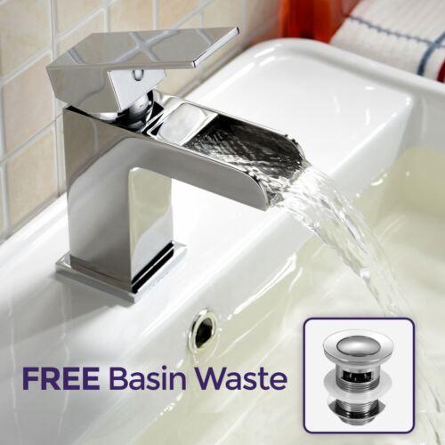 Quintin Waterfall Basin Sink Cloakroom Mono Mixer Bathroom Tap Free Waste