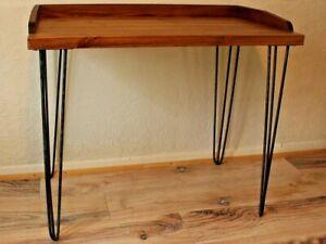 Schreibtisch Beine Holz.Details Zu Rustic Vintage Industrial Retro Wooden Desk Console Table Metal Hairpin Legs