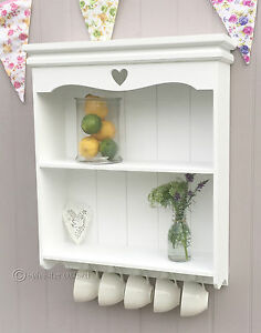 Shabby Chic Wall Shelves White Wooden Kitchen Bathroom Vintage Style Shelf Ebay
