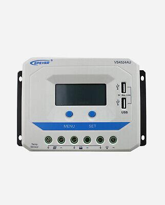 Photovoltaik-zubehör Solarenergie Epever® Vs4524au Pwm Laderegler Viewstar 45a Automatische Erkennung 12v/24v Lcd