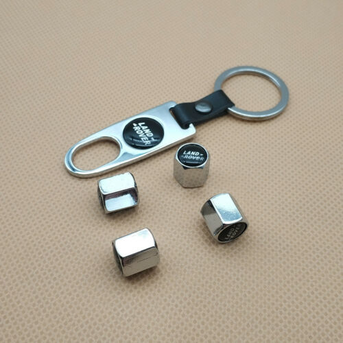 Keychain For Land Rover Logo Universal Car Wheel Tire Valves Dust Stem Air Cap