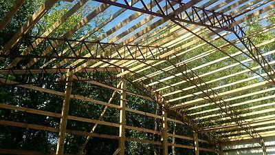 6 - 60' steel truss clear span, agricultural building, pole barn, arena,  carport | eBay