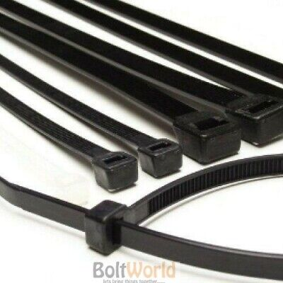 Strong Black /& Natural Coloured ZIP//Cable Ties Tie Wraps