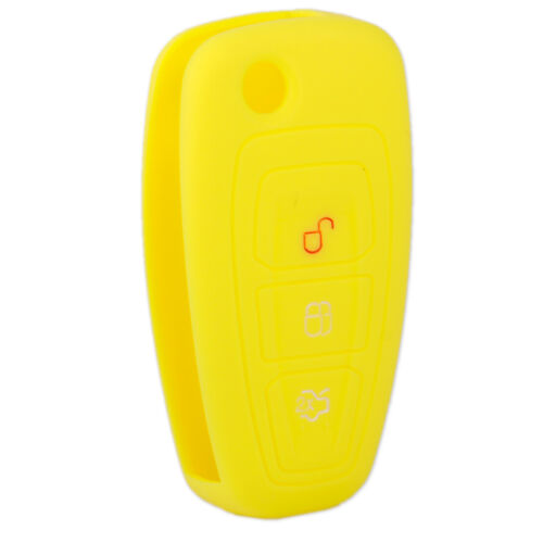 Silicone  3 Button Remote Key Fob Case Cover For Ford Focus Mondeo Fiesta Kuga