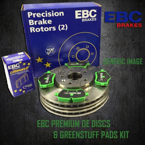PD01KR090 NEW EBC 330mm REAR BRAKE DISCS AND GREENSTUFF PADS KIT OE QUALITY