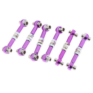 6-Pieces-122017-Upgrade-Parts-Purple-Metal-Servo-Linkage-for-HSP-RC-1-10-Car