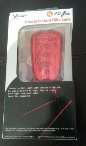 XFire Bike Lane Tail Light Night Rider Bicycle Safety Cycling NEW LED x fire