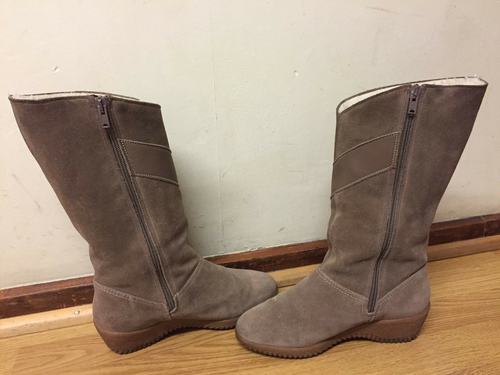 K SHOES AQUABOOTS  WOMENS SUEDE BOOTS SIZE   MADE IN ENGLAND