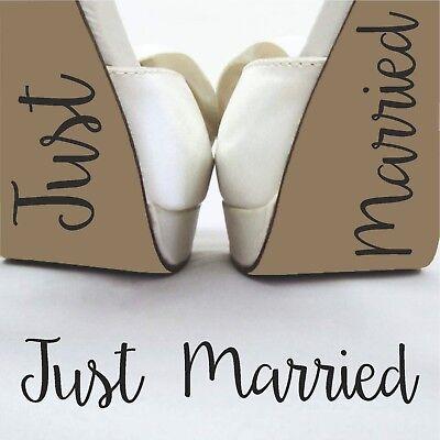 Discreto Appena Sposato Sposa Sposo Nozze Festa Divertente Brides Scarpa Decalcomania Adesivo Vinile-