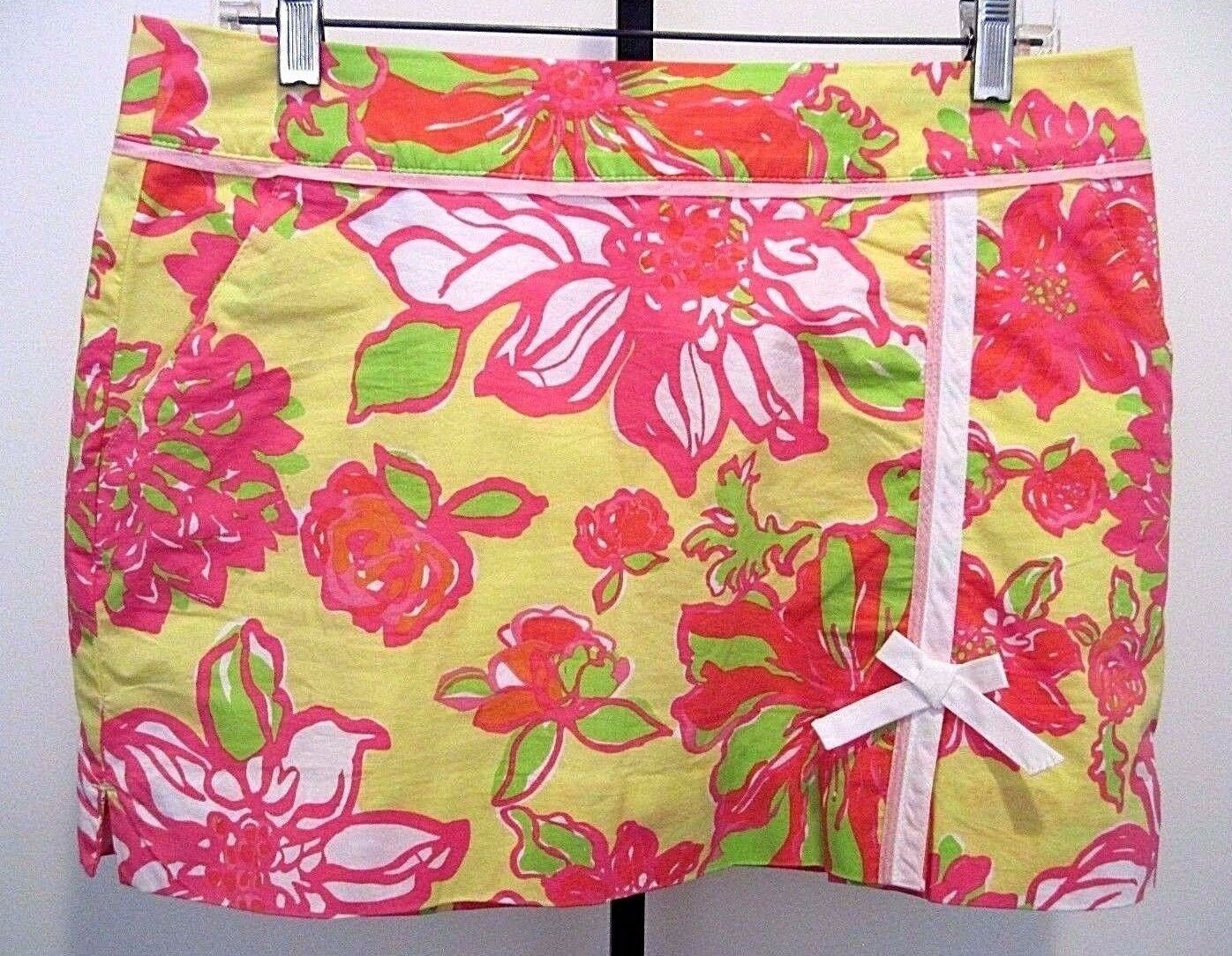 Lilly Pulitzer Women's Multicolord Floral Cotton Skorts Size 6