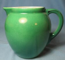 Czechoslovakia Pottery Pitcher  BALL Shape with Painted Handle Detail