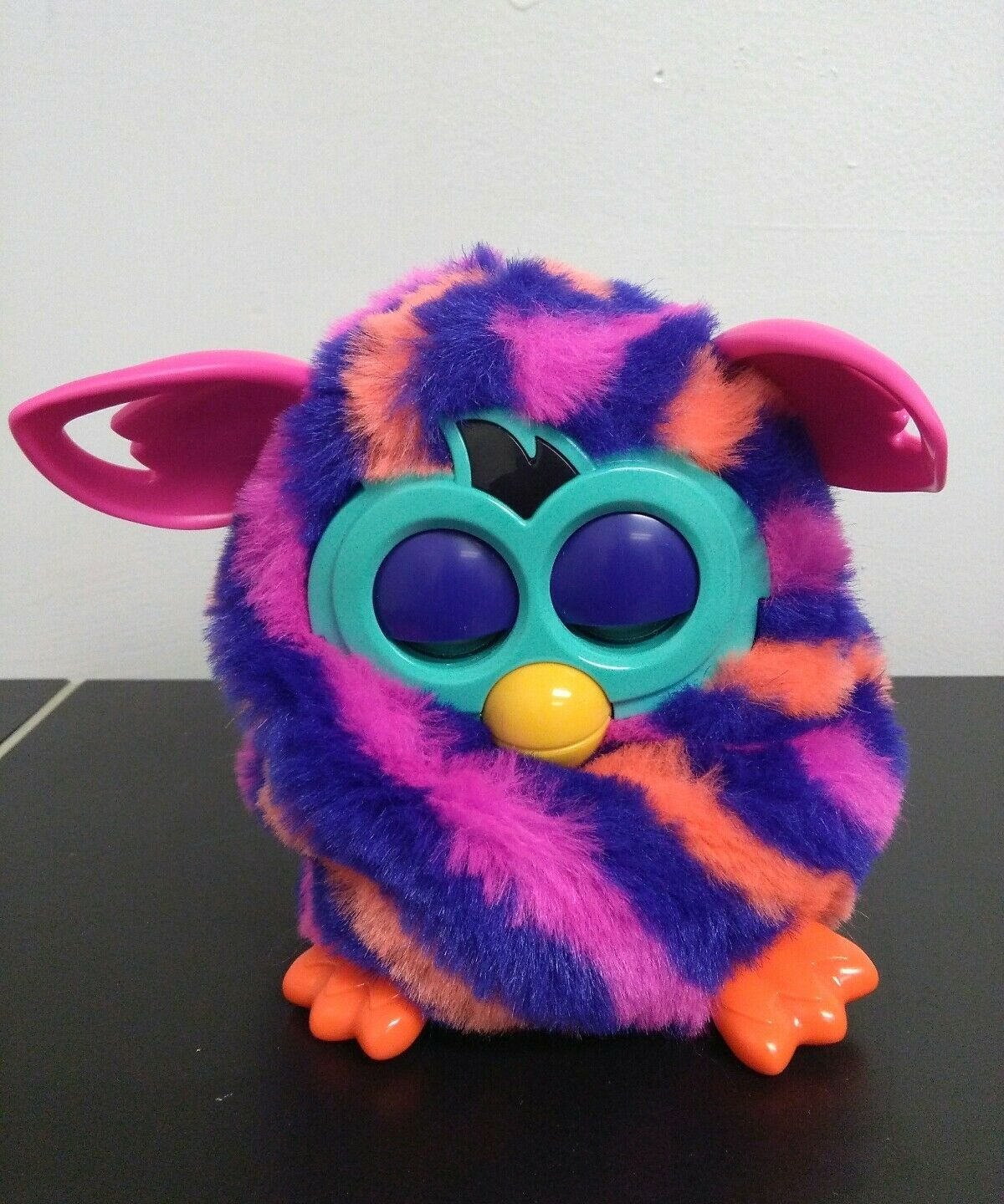 Furby Diagonal Stripes Boom Plush Doll Creature Talks Learns Speak 6S2Yzp1