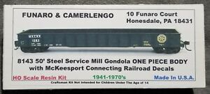 Funaro-F-amp-C-8143-MKCRR-MCKEESPORT-CONNECTING-Gondola-50-039-Steel-Mill-1-PIECE-BODY