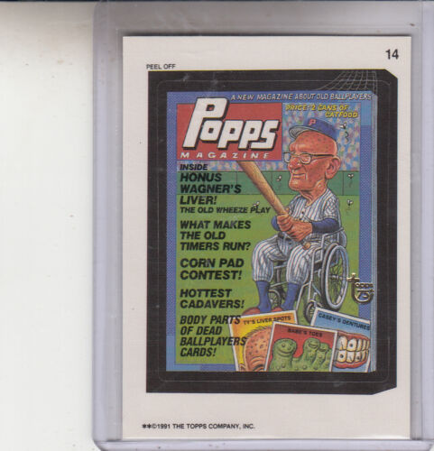 2013 TOPPS 75TH ANNIVERSARY GOLD STAMPED 1991 WACKY PACKAGES #14 POPPS