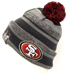 c745450783f 2014-2015 San Francisco 49ers NEW ERA NFL SIDELINE SPORT KNIT Gry ...