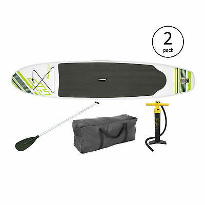 "Bestway Inflatable Hydro Force Wave Edge 122"" x 27"" Paddle Board, Green (2 Pack)"