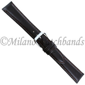 19mm-deBeer-Dark-Brown-Handcrafted-Genuine-Smooth-Leather-Padded-Mens-Band-XL