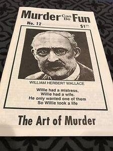 Rare MURDER CAN BE FUN # 12 WILLIAM HERBERT WALLACE THE ART OF MURDER