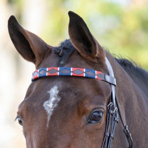 SHIRES BLENHEIM LEATHER POLO BROWBAND PONY COB FULL EXTRA ASSORTED COLOURS