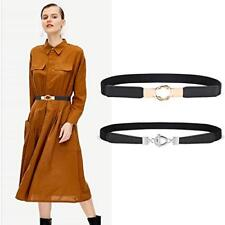 Torostra Womens Metal Stretch Elastic Waist Belt Fashion Thin Belts for Dress
