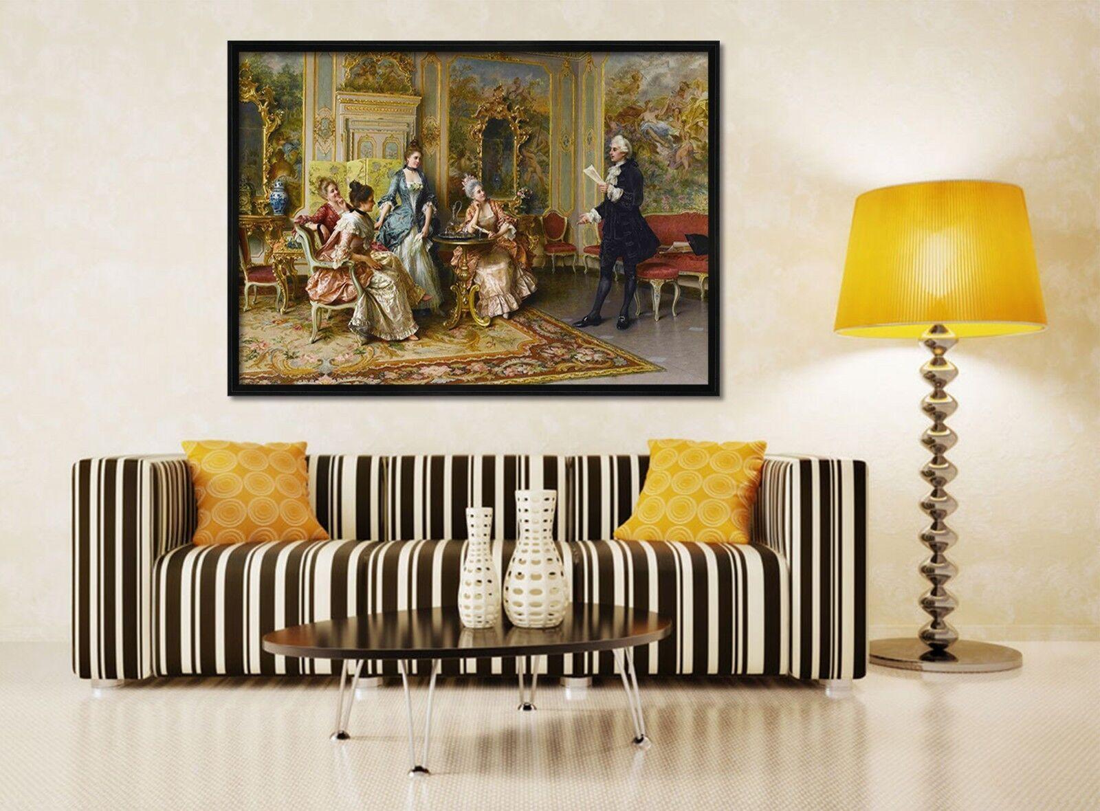 3D Miss Royal aula 1 Póster Enmarcado Decoración del Hogar Pintura de Impresión Arte Wallpaper