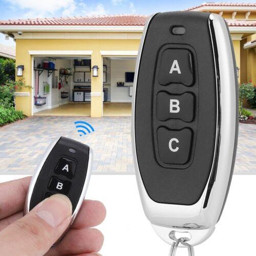 433MHz Wireless Cloning Remote Control Garage Door Gate Universal Clone Key DD