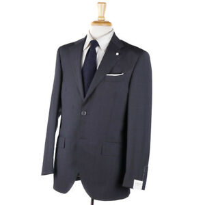 e95b0caca14 NWT $1295 LUIGI BIANCHI Classic-Fit Gray Mini Patterned Wool Suit 40 ...