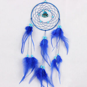 Hecho-a-mano-indio-Dream-Catcher-Feather-Wall-Car-Hanging-Decor-Ornament-UHH