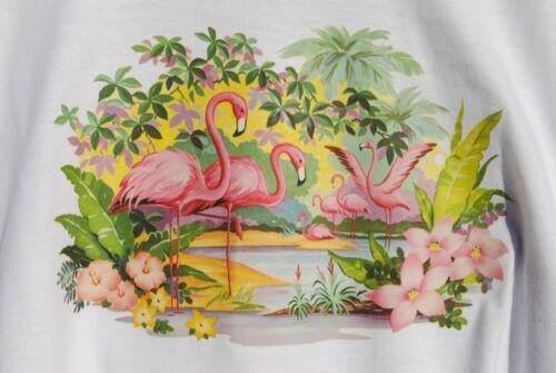 Pink Flamingos graphic Tee retro art vintage mens Cotton t shirt S,M,L,XL