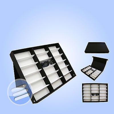 18 PAIR SUNGLASSES GLASSES RETAIL SHOP DISPLAY STAND STORAGE UNIT BOX CASE TRAY