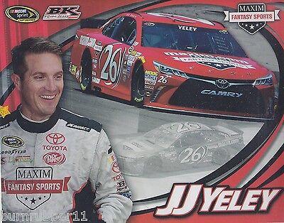 "2015 JJ YELEY /""MAXIM FANTASY SPORTS BK RACING/"" #26 NASCAR SPRINT CUP POSTCARD"