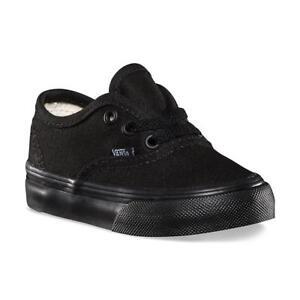 Details about Vans Authentic Black Black Canvas Infant Toddler Baby Boy Girl Shoes Size 6