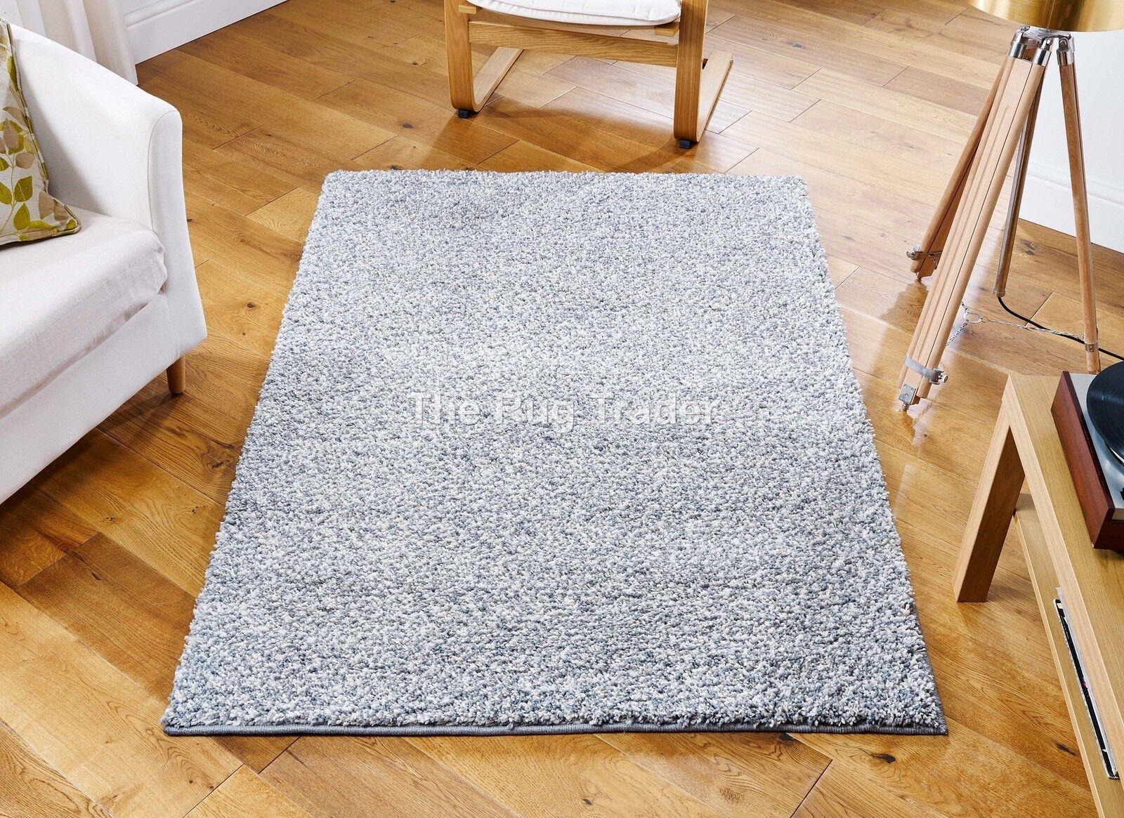 Cavender Cavender Cavender Épais Shaggy gris argent Zone Tapis Dans Différentes Tailles Inc Cercle   France  87be67