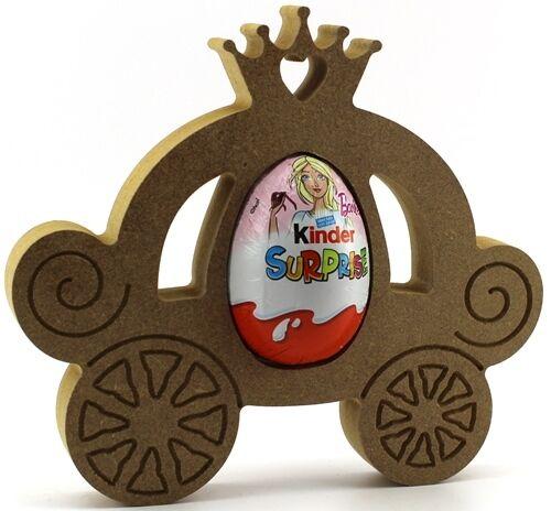Easter Gift Blank craft Princess Carriage Freestanding MDF Kinder Egg Holder