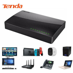 10-100-1000-Mbps-8-port-Fast-Ethernet-LAN-Ordinateur-de-bureau-RJ45-commutateur-reseau-Hub