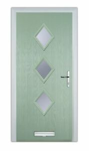 newest e883e 1d972 Details about 3 DIAMOND GREEN COMPOSITE DOOR - MADE TO MEASURE - BRAND NEW  - 10 YEAR GUARANTEE