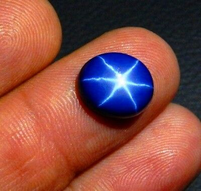 5.50 CT NATURAL BLUE STAR SAPPHIRE 6 RAYS OVAL CABOCHON RING SIZE LOOSE GEMSTONE