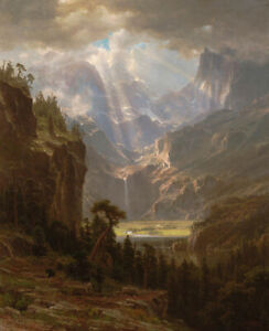 Albert-Bierstadt-Rocky-Mountains-Lander-039-s-Peak-Landscape-Print-on-Canvas-Small