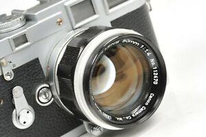 Canon-Objektiv-50mm-f-1-4-Leica-LTM-Mount-Blende-benoetigt-Service-fehlende-Pin