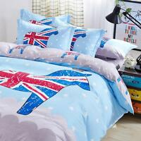 Single Queen King Bed Linen Pillowcase Quilt Duvet Cover English Style Tkbt