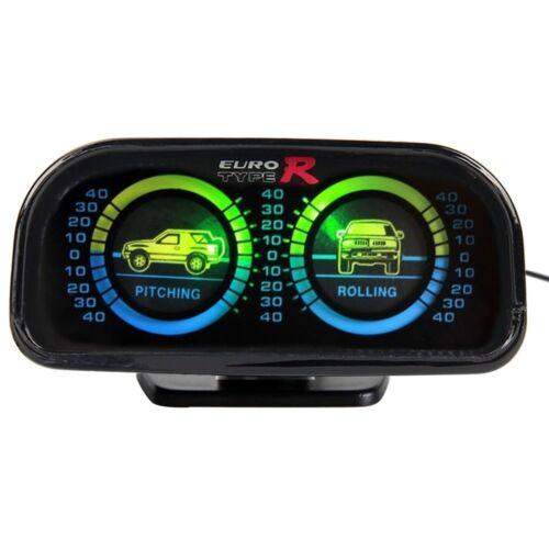 Adjustable Auto Car Compass Balance Meter Gauges Slope Indicator Inclinometer