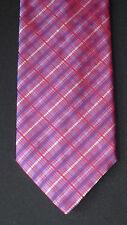 Nice Simon Carter Purple & Multi-Color Striped Silk Necktie, MI England
