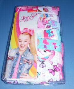 e5888dad3ee0 JoJo Siwa Underwear Size 4 Dance Moms Cotton 7 Panty Pack Undies NIP ...