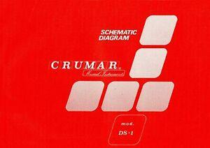 CRUMAR DS1 Service Manual Schematic Diagrams Schaltplan Schéma électrique DS-1