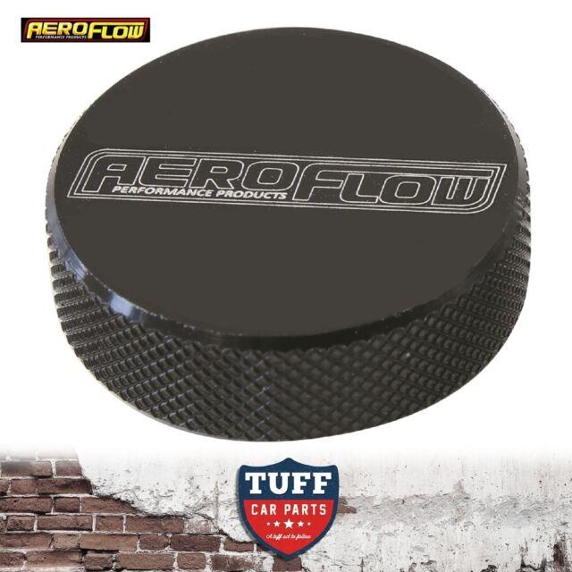 "Aeroflow Billet Black Tall Profile Air Filter Cleaner Nut 1/4"" UNC Female New"