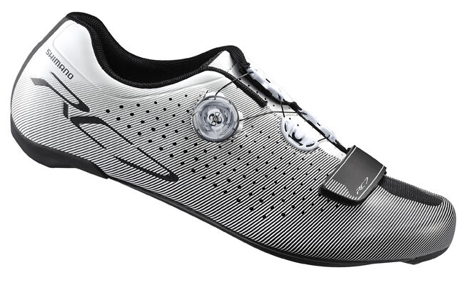 Shimano SH-RC7 Carbon Road Bicycle Cycling Bike Schuhes Weiß - 41.5 (US 8.0)