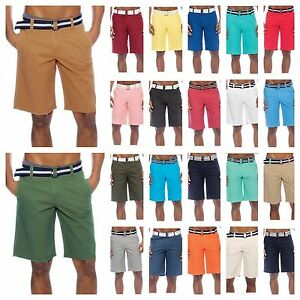 Men-039-s-Shorts-Bahamas-Belted-Walkout-Casual-Fashion-Shorts-Beach-Jogger-Shorts