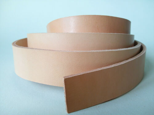 127cm LONG natural 3.5mm THICK VEG TAN BEND LEATHER STRAP COWHIDE VARIOUS WIDTHS
