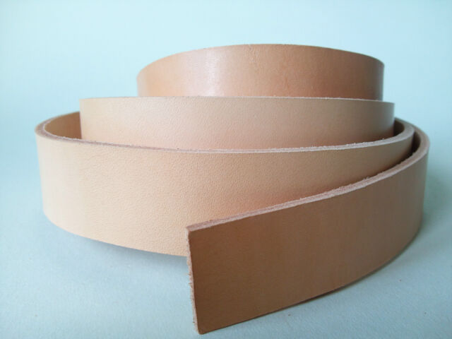 """50"""" LONG natural 3-3.5mm THICK VEG TAN BUTT LEATHER STRAP COWHIDE VARIOUS WIDTH"""