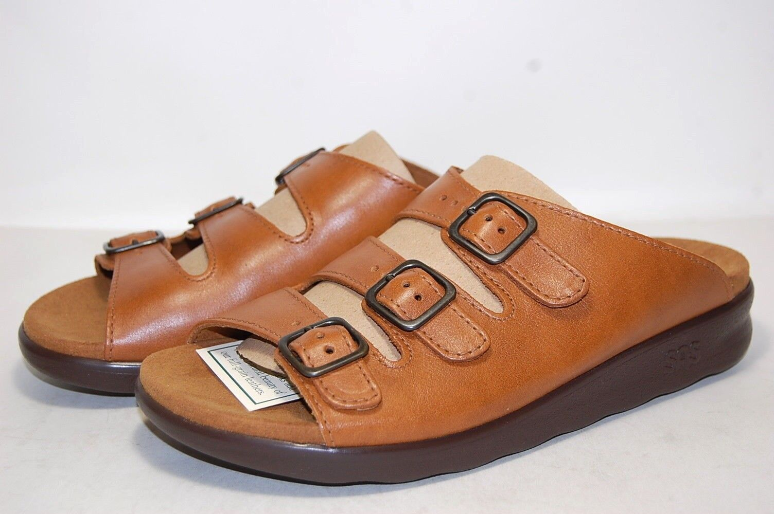 Original SAS Comfy Caramel W Wide Wide Wide 1680-201 Leather Women 873a30